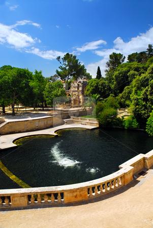 Jardin de la Fontaine in Nimes France stock photo, Park Jardin de la Fontaine in city of Nimes in southern France by Elena Elisseeva
