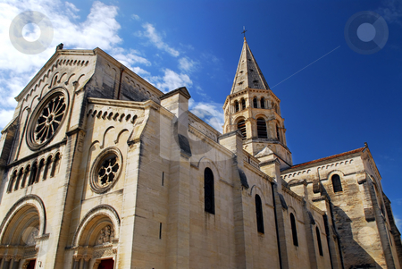 Gothic church in Nimes France stock photo, Gothic church in city of Nimes in southern France by Elena Elisseeva