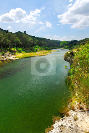 River Gard in southern France stock photo, River Gard in southern France near Nimes by Elena Elisseeva