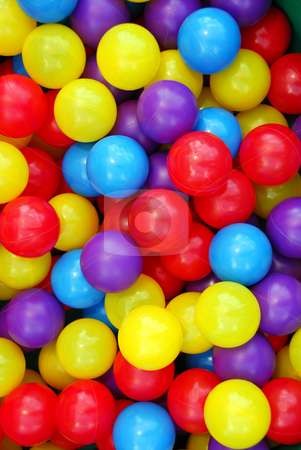 Playground balls stock photo, Background of colorful plastic balls at indoor playground by Elena Elisseeva