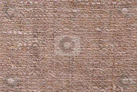 Linen fabric texture stock photo, Closeup of a linen fabric texture of natural color by Elena Elisseeva