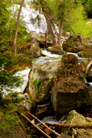 Waterfall stock photo, Waterfall on a woodland river in Ontario, Canada by Elena Elisseeva