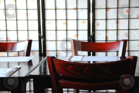Japanese restaurant stock photo, Interior of a empty modern japanese restaurant by Elena Elisseeva