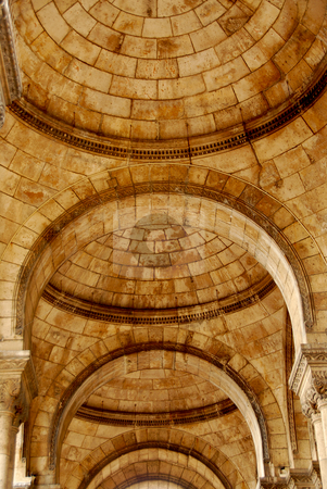 Arches stock photo, Fragment of an old cathedral with arches by Elena Elisseeva