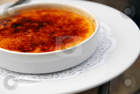 Creme brulee stock photo, A plate of delicious dessert creme brulee by Elena Elisseeva