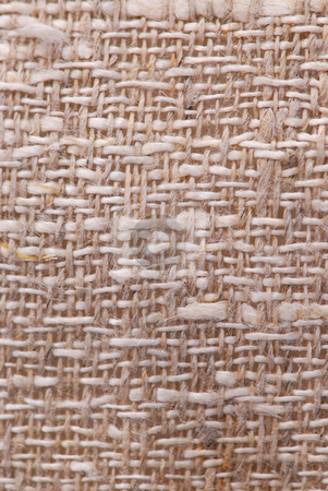 Linen fabric texture stock photo, Closeup of a rustic linen fabric texture of natural color by Elena Elisseeva