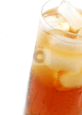 Iced tea stock photo, Glass of cold iced tea with water drops on surface by Elena Elisseeva
