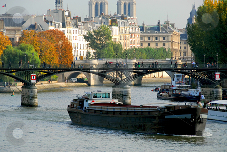 Paris Seine stock photo, Stone bridges over Seine in Paris France by Elena Elisseeva