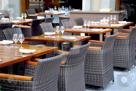 Restaurant stock photo, Empry restaurant by Elena Elisseeva