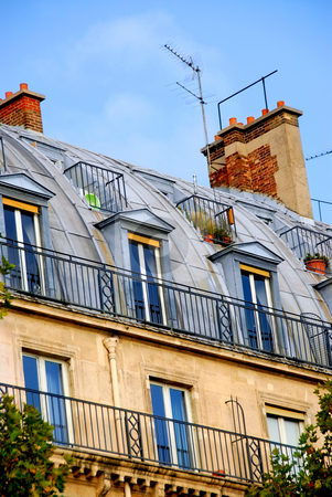 Paris building stock photo, Fragment of a typical building in Paris, France by Elena Elisseeva