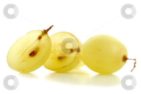 Grapes macro stock photo, Extreme macro of fresh cut grape berries with seeds by Elena Elisseeva