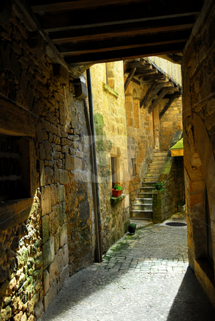 Medieval architecture stock photo, Detail of medieval architecture in historical town of Sarlat, France. by Elena Elisseeva