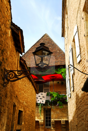 Medieval architecture stock photo, Details of medieval architecture in historical town of Sarlat, France by Elena Elisseeva
