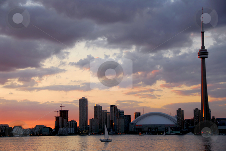 Toronto city skyline stock photo, Toronto city skyline at sunset by Elena Elisseeva