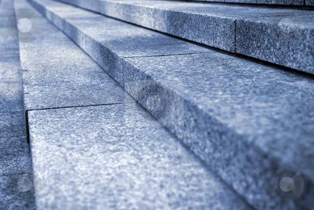 Granite stairs stock photo, Close up on granite stairs in perspective by Elena Elisseeva
