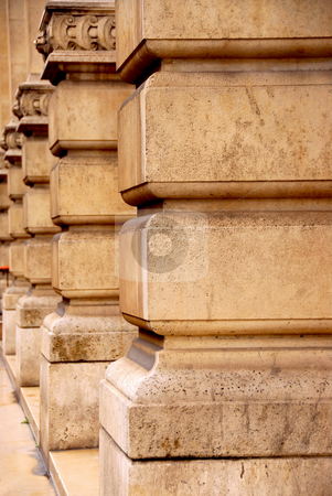Columns stock photo, Row of columns in perspective in old historic building by Elena Elisseeva