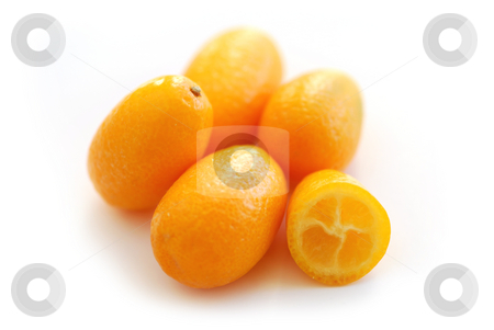 Kumquats stock photo, Fresh ripe kumquats isolated on white background by Elena Elisseeva