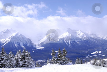 Mountains stock photo, Scenic winter mountain landscape in Canadian Rockies by Elena Elisseeva