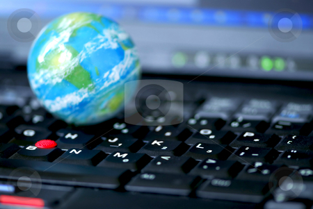 Internet computer business global stock photo, Concept of global internet connectivity or international business by Elena Elisseeva