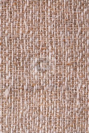 Linen fabric texture stock photo, Closeup of a rustic linen fabric texture of natural color by Elena Elisseeva