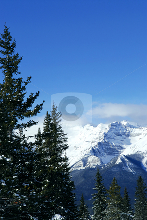 Mountain landscape stock photo, Scenic winter mountain landscape in Canadian Rockies by Elena Elisseeva
