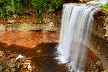 Waterfall stock photo, Scenic waterfall in wilderness in Ontario, Canada. by Elena Elisseeva