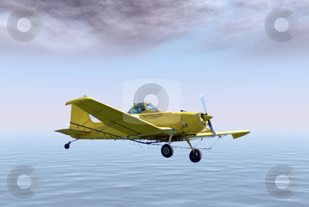 Leisure Flight stock photo, A small plane flying in the sky on a leisure flight by Richard Nelson