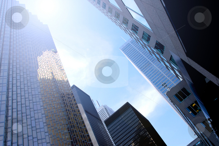Skyscrapers stock photo, Modern glass and steel skyscrapers in downtown Toronto by Elena Elisseeva