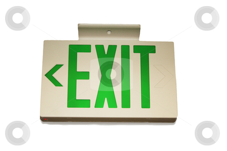 Exit sign stock photo,  by Greg Peterson