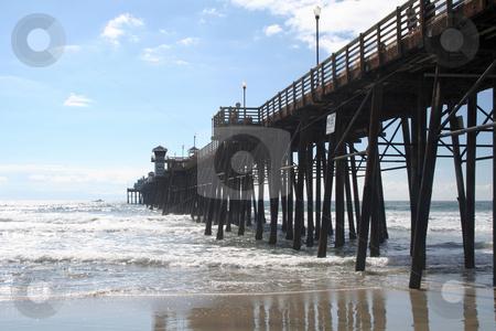 Beach pier stock photo,  by Greg Peterson