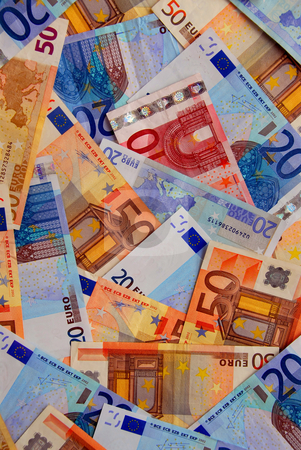 Euro money stock photo, Background of european union currency paper bills by Elena Elisseeva