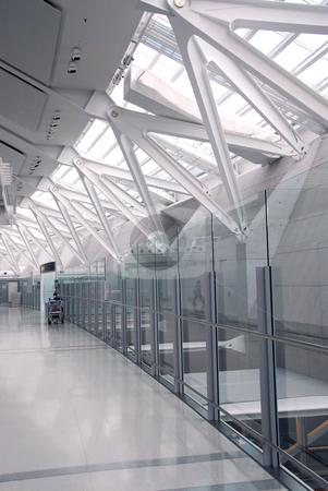 Airport interior stock photo, Interior of modern international airport by Elena Elisseeva