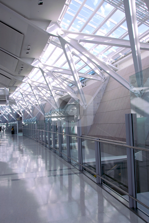 Airport interior stock photo, Interior of modern international airport by Elena Elisseeva