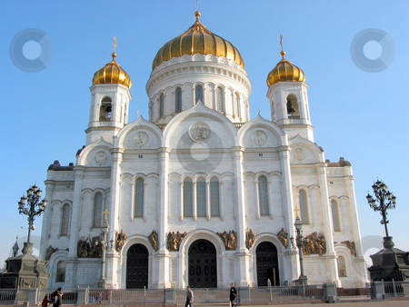 Cathedral in Moscow stock photo, Cathedral of Christ the Savior in Moscow, Russia by Elena Elisseeva