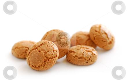 Amaretti stock photo, Traditional italian almond cookies - amaretti, isolated on white background by Elena Elisseeva