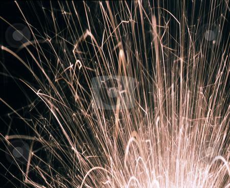 Sparkler stock photo, White hot sparkler trails by Stephen Gibson