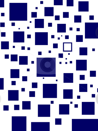Blue squares stock photo, Blue square background by Stephen Gibson
