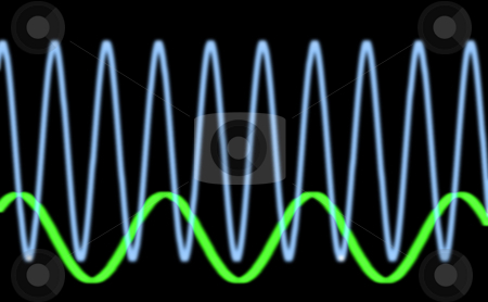 Sinusiodal waveform stock photo, Sine waves oscilloscope by Stephen Gibson