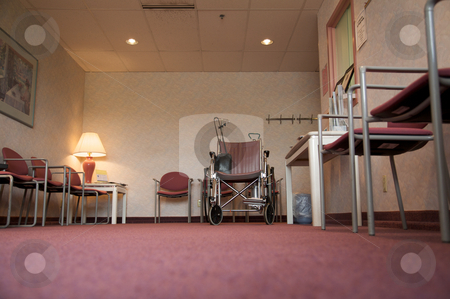 The waiting room stock photo, A doctor's office waiting room with a wheelchair by Mitch Aunger