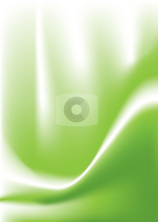 Green swoop stock photo, Flowing fluid background in green with copy space by Michael Travers