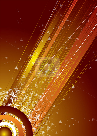 Shooting red sky stock photo, Abstract space image with shooting stars in red and white by Michael Travers