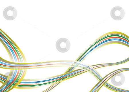 Rainbow swish stock photo, Colorful rainbow background with overlapping element and copy space by Michael Travers