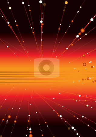 Space glow stock photo, Abstract space image with radiating balls streaking out by Michael Travers
