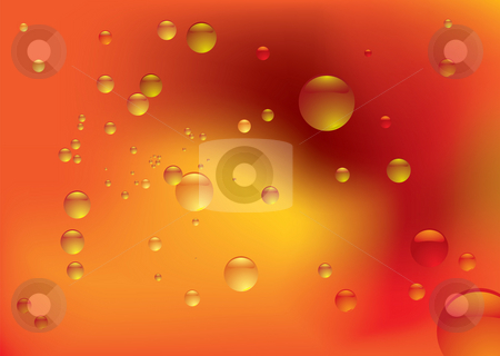 Bubble blur stock photo, Dreamy orange fluid background with bubbles and copy space by Michael Travers
