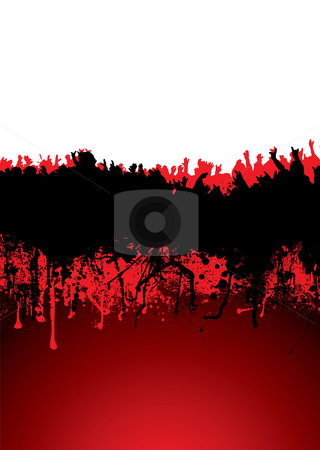 Concert crowd stock photo, Music inspired crowd scene with blood dribble ideal background by Michael Travers