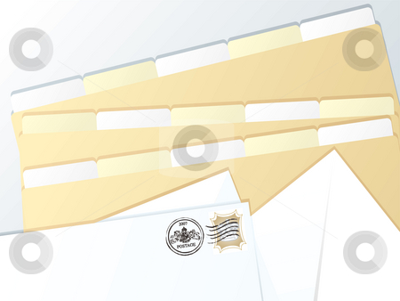 Business folder blank stock photo, An illustration of some business accounts folders by Michael Travers