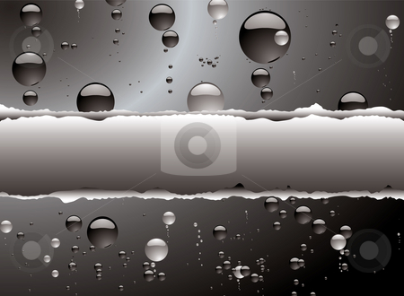 Bubble rip white stock photo, Illustrated bubble background in black and white with a rip by Michael Travers