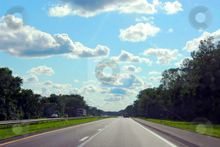 Highway stock photo, Divided highway by Elena Elisseeva