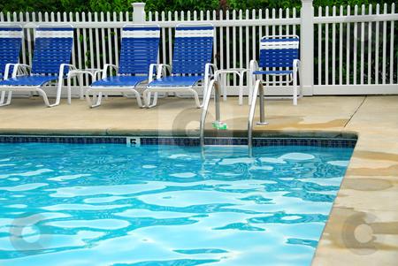 Outdoor swim pool stock photo, Outdoor swimming pool by Elena Elisseeva