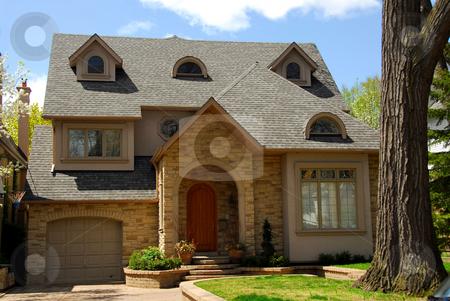 New custom home stock photo, New custom built home by Elena Elisseeva
